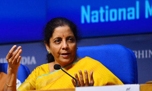 India's finance minister, Nirmala Sitharaman.